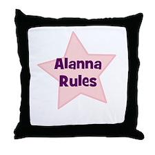 Alanna Rules Throw Pillow