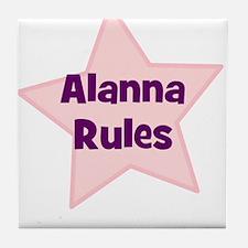 Alanna Rules Tile Coaster