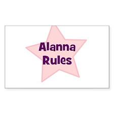 Alanna Rules Rectangle Decal