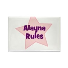 Alayna Rules Rectangle Magnet