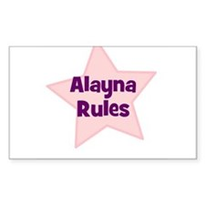 Alayna Rules Rectangle Decal