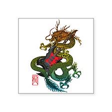 "Dragon original 03 Square Sticker 3"" x 3"""