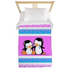 I Love Penguins Twin Duvet