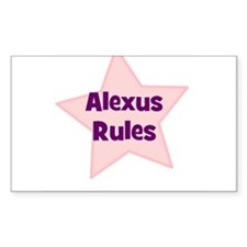 Alexus Rules Rectangle Decal