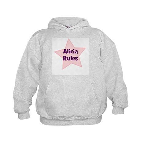 Alicia Rules Kids Hoodie