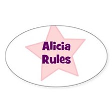 Alicia Rules Oval Decal