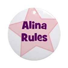 Alina Rules Ornament (Round)