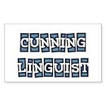 Cunning Linguist Rectangle Sticker
