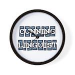 Cunning Linguist Wall Clock