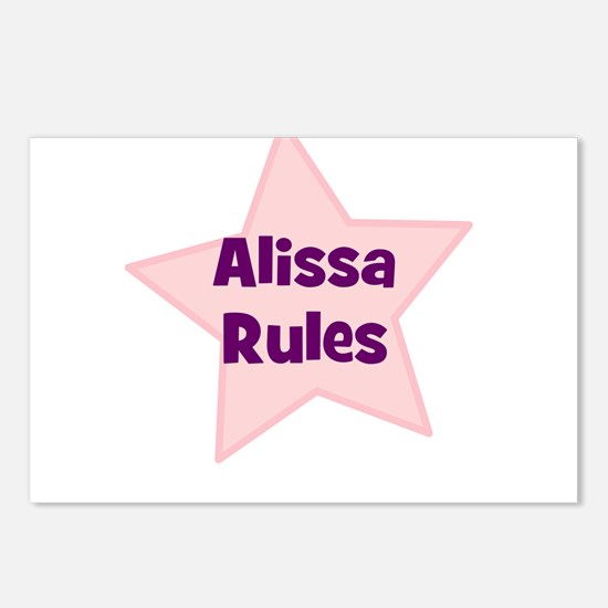 Alissa Rules Postcards (Package of 8)