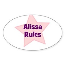 Alissa Rules Oval Decal