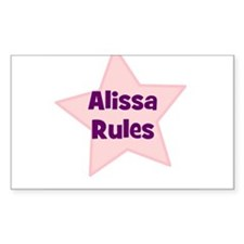 Alissa Rules Rectangle Decal