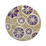 Retro Flowers Ornament (Round)