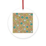 Retro Dots Ornament (Round)