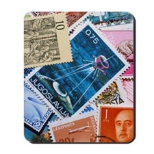 Assorted foreign postage stamps Mousepad