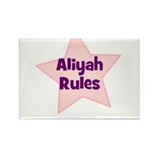Aliyah Rules Rectangle Magnet (10 pack)