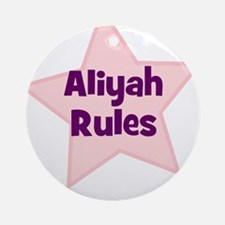 Aliyah Rules Ornament (Round)