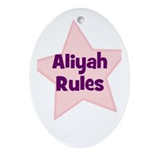 Aliyah Rules Oval Ornament