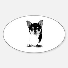 Chihuahua Charcoal Oval Decal