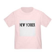 New Yorker in Pink, White, or Blue T