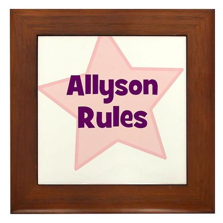Allyson Rules Framed Tile