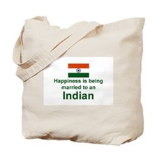 Happily Married To An Indian Tote Bag