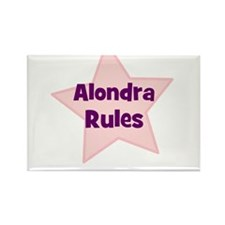 Alondra Rules Rectangle Magnet