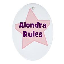 Alondra Rules Oval Ornament
