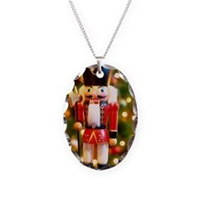 Nutcracker soldier with a Chri Necklace Oval Charm