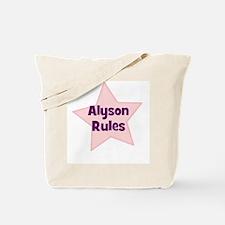 Alyson Rules Tote Bag
