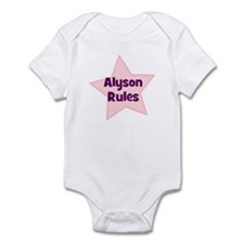 Alyson Rules Infant Bodysuit