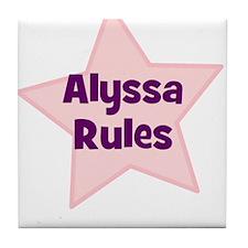 Alyssa Rules Tile Coaster
