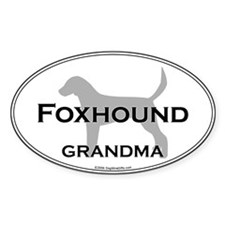 En. Foxhound GRANDMA Oval Decal
