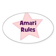 Amari Rules Oval Decal