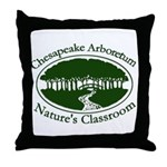 Chesapeake Arboretum Logo Throw Pillow