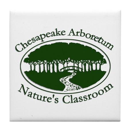 Chesapeake Arboretum Logo Tile Coaster