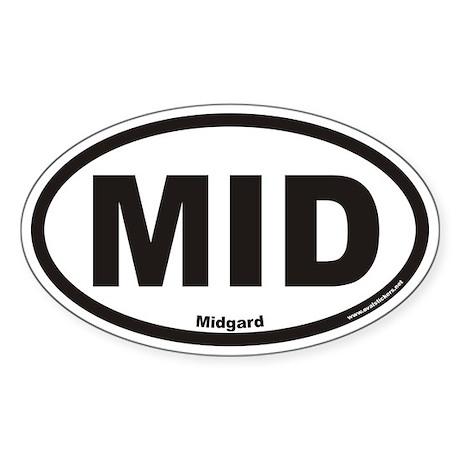 Midgard MID Euro Oval Sticker