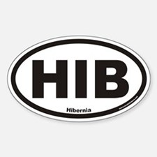 Hibernia HIB Euro Oval Decal