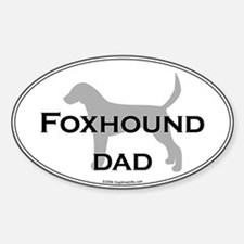 En. Foxhound DAD Oval Decal