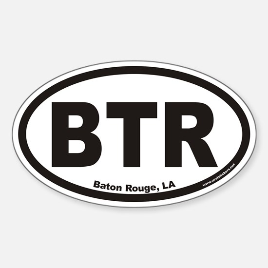Baton Rouge BTR Euro Oval Decal