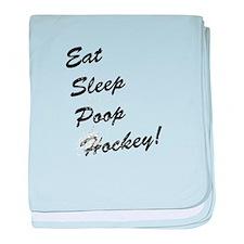 Funny Eat sleep hockey baby blanket