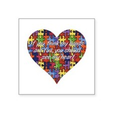Autism Hands full, See my heart Sticker