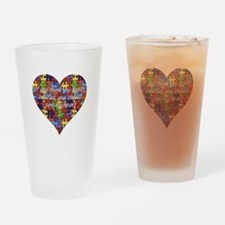 Autism Hands full, See my heart Drinking Glass