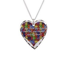 Autism Hands full, See my heart Necklace