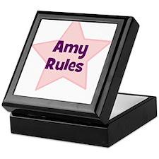 Amy Rules Keepsake Box