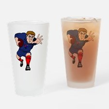 French Rugby Player Drinking Glass