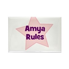 Amya Rules Rectangle Magnet