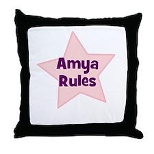 Amya Rules Throw Pillow