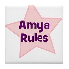 Amya Rules Tile Coaster