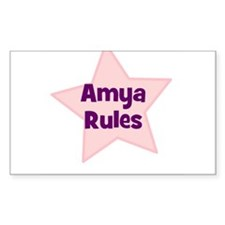 Amya Rules Rectangle Decal